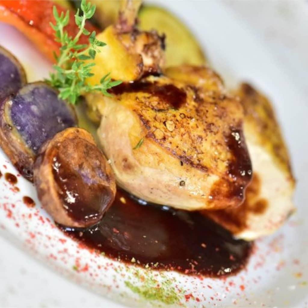 Abendessen im GT3 Hotel
