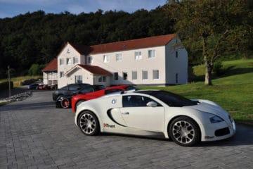 Parkplatz im GT3 Hotel am Nürburgring
